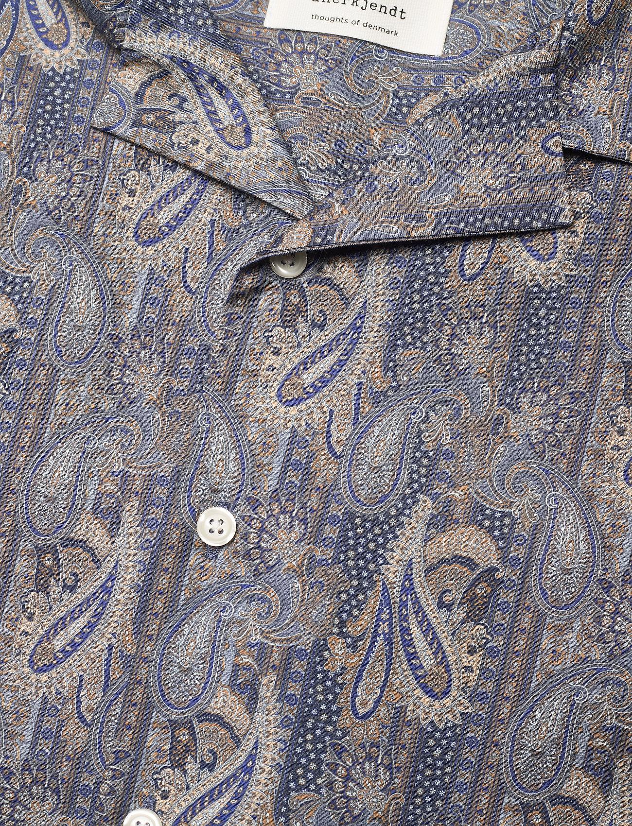 Anerkjendt - AKLEO SS POPLIN AOP - chemises à carreaux - slate black - 6