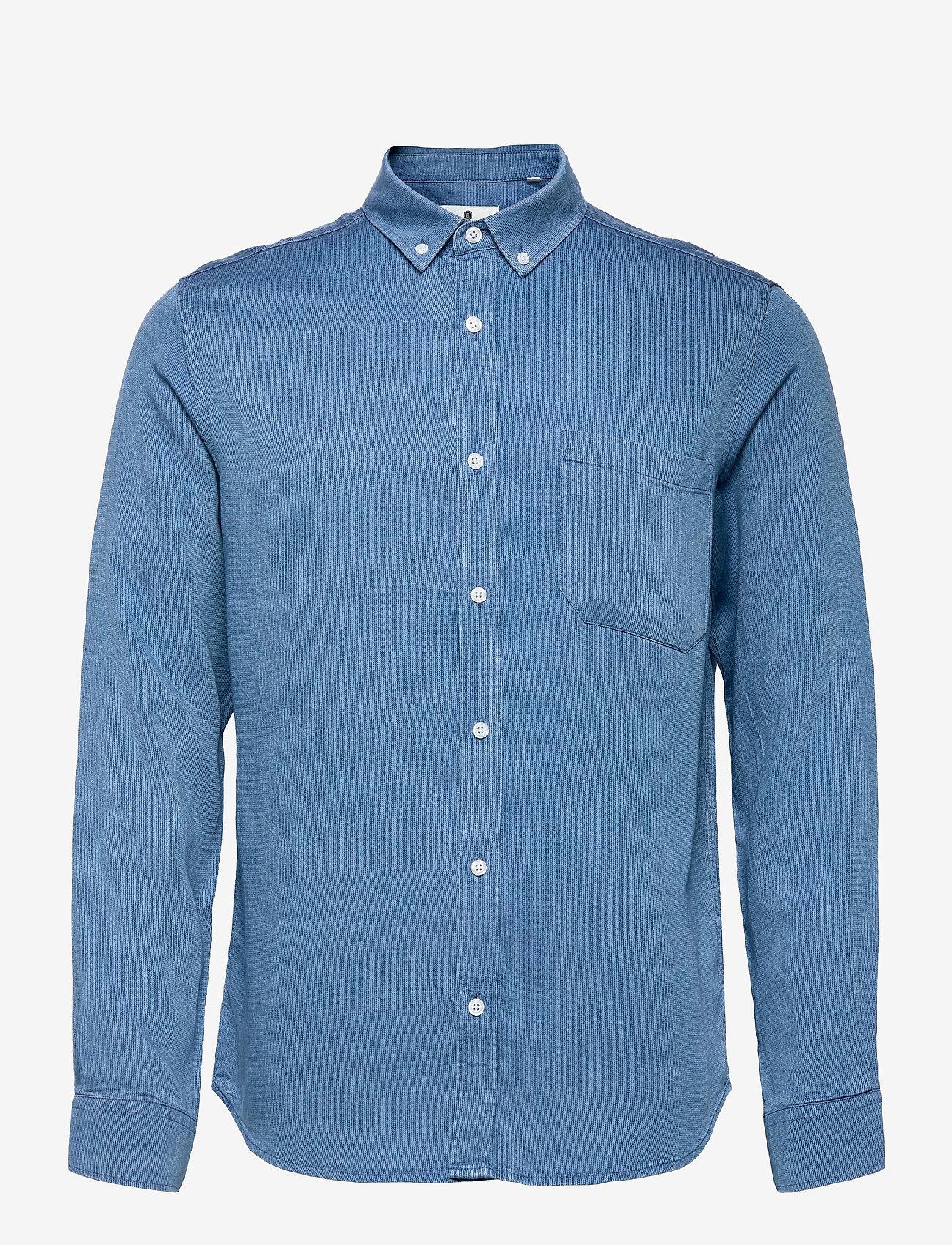 Anerkjendt - AKKONRAD LS TENSEL - linnen overhemden - copen blue - 1