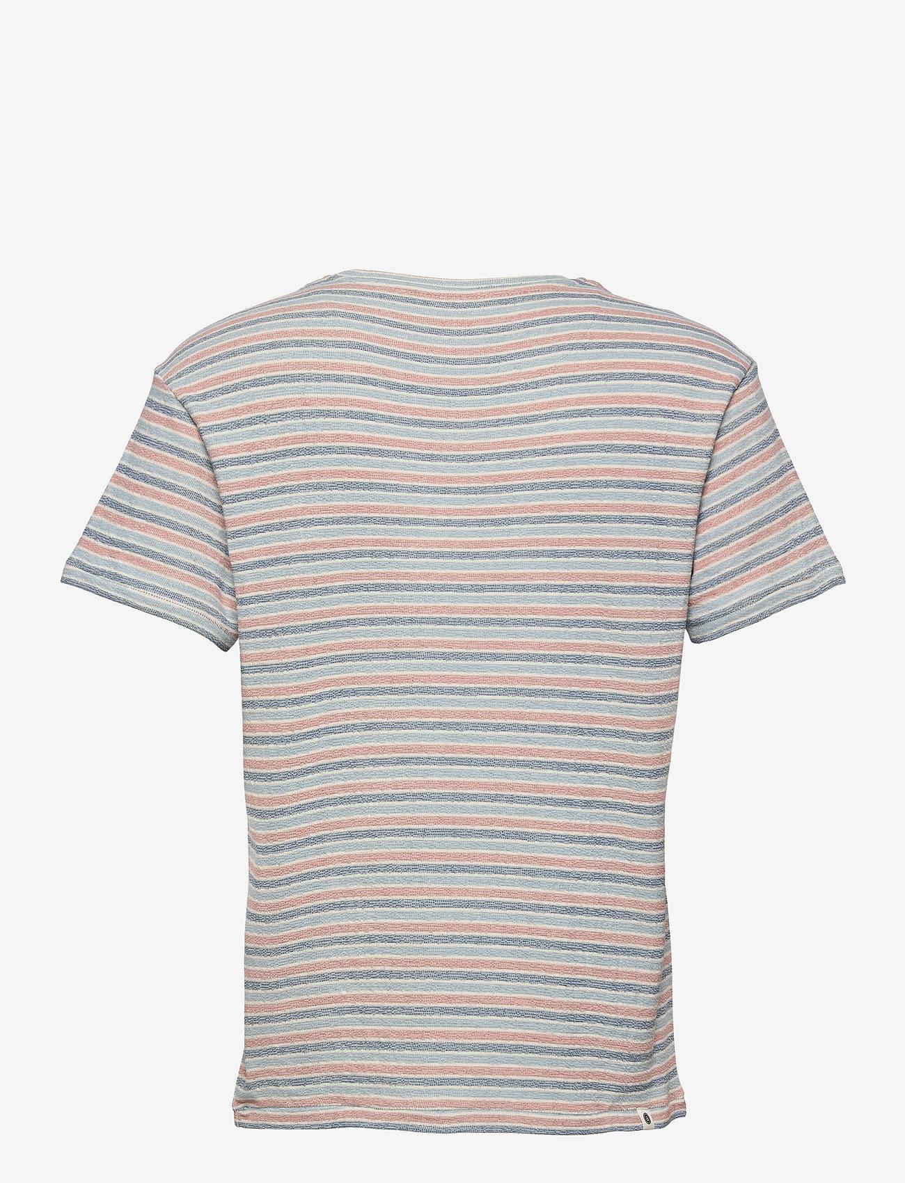 Anerkjendt - AKKIKKI STRIPE - t-shirts à manches courtes - tofu - 1