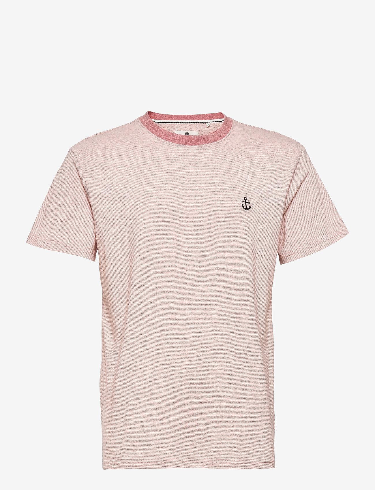 Anerkjendt - AKKIKKI CURV EMB - t-shirts - old rose - 1