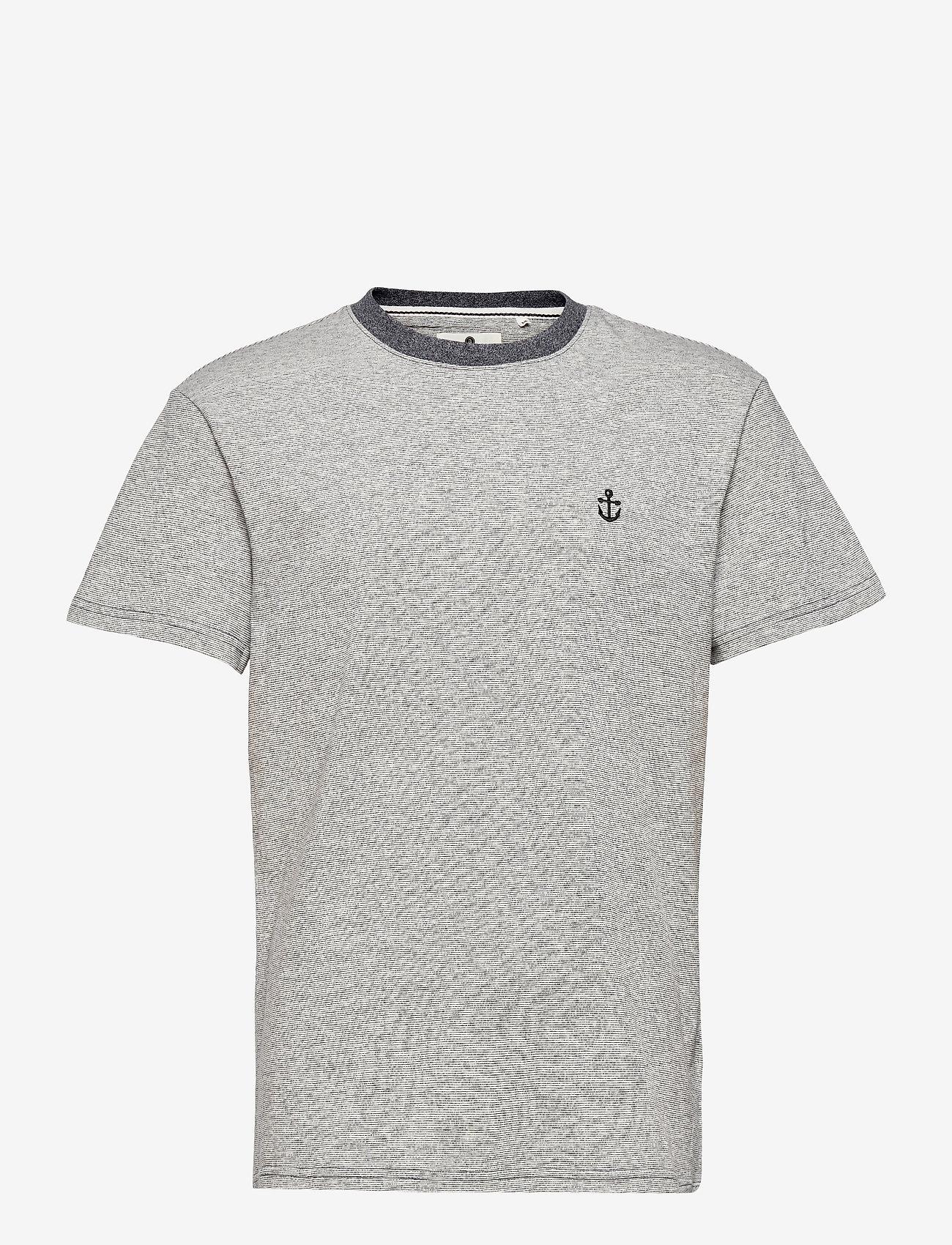 Anerkjendt - AKKIKKI CURV EMB - t-shirts - sky captain - 1