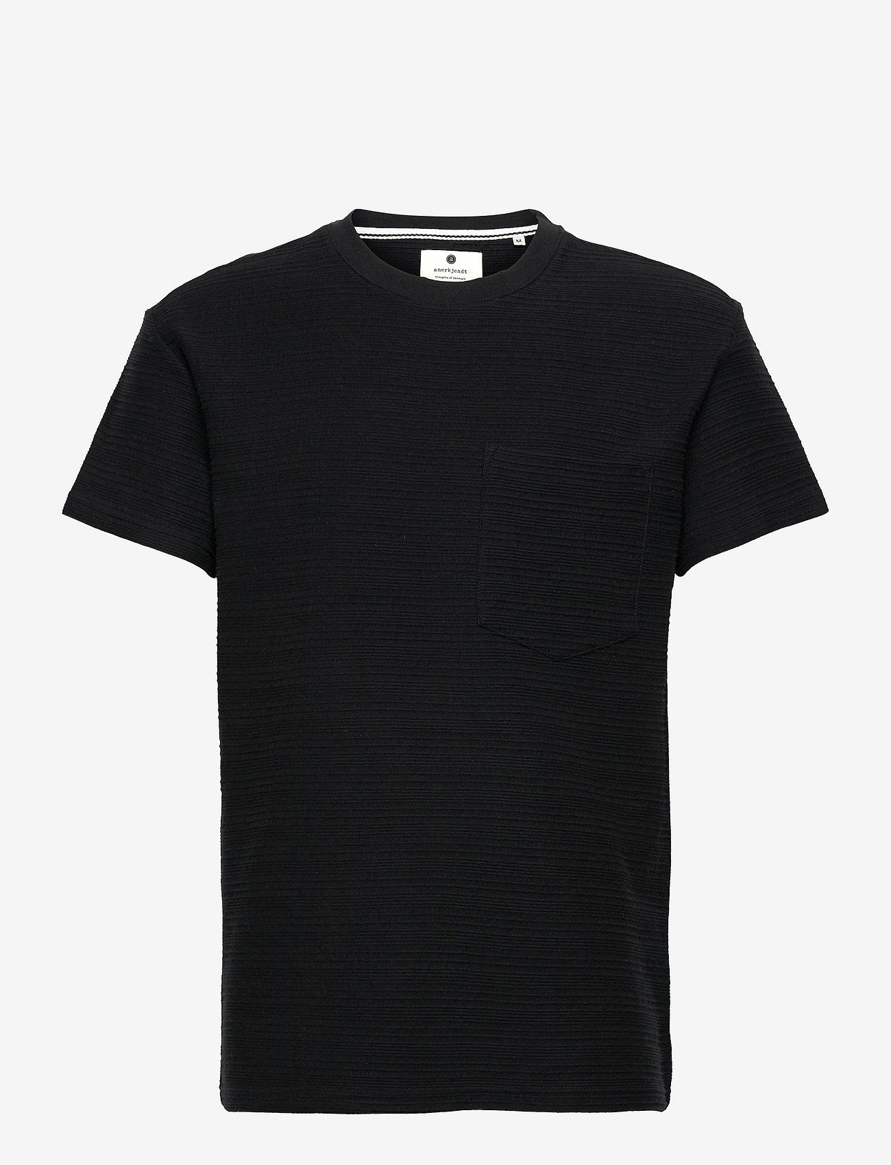 Anerkjendt - AKKIKKI STRUC STRIPE - t-shirts basiques - caviar - 0