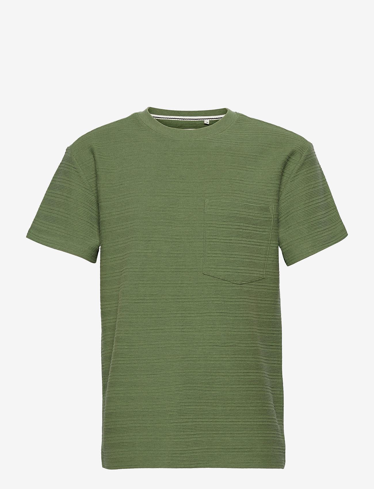 Anerkjendt - AKKIKKI STRUC STRIPE - t-shirts basiques - vineyard green - 0