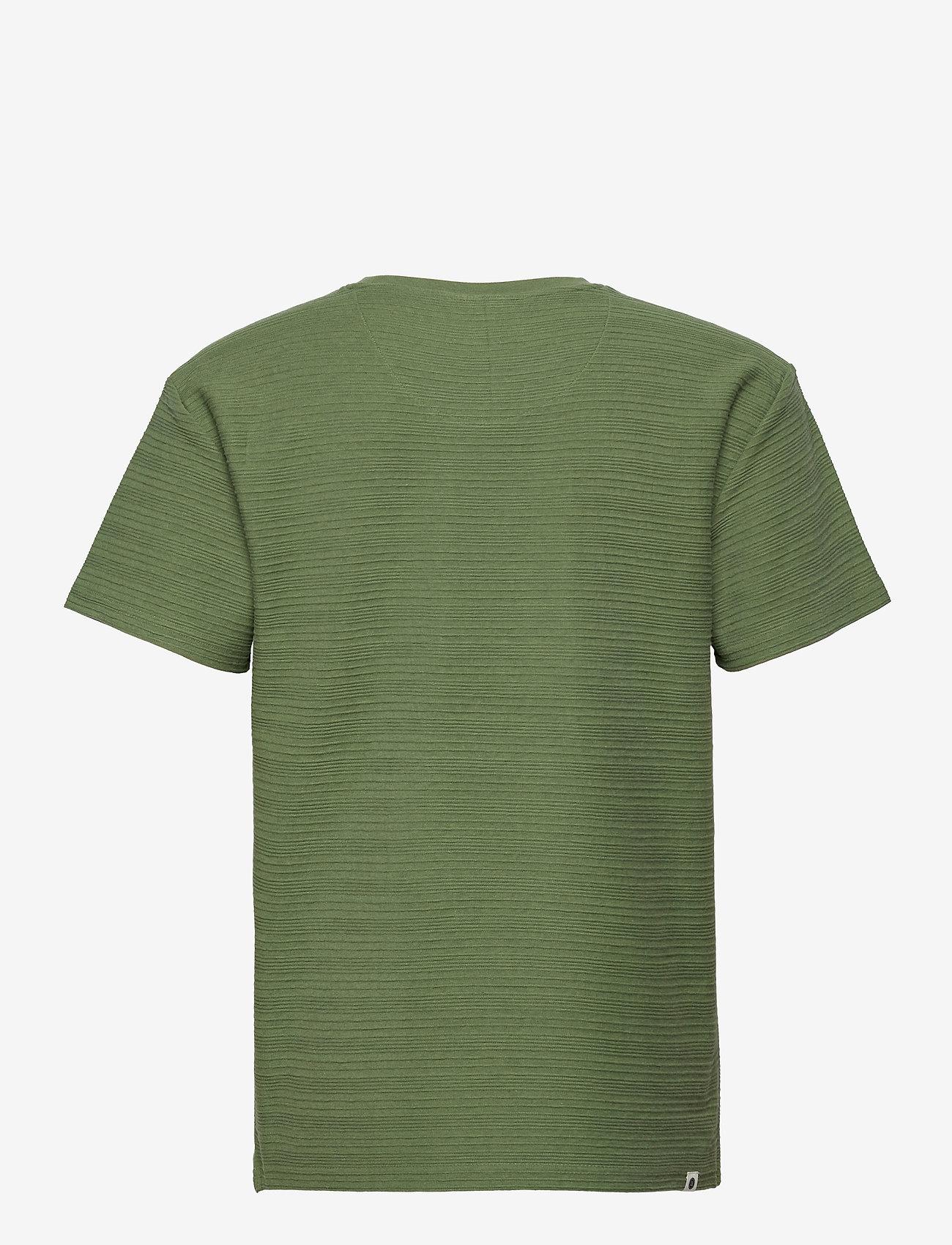 Anerkjendt - AKKIKKI STRUC STRIPE - t-shirts basiques - vineyard green - 1