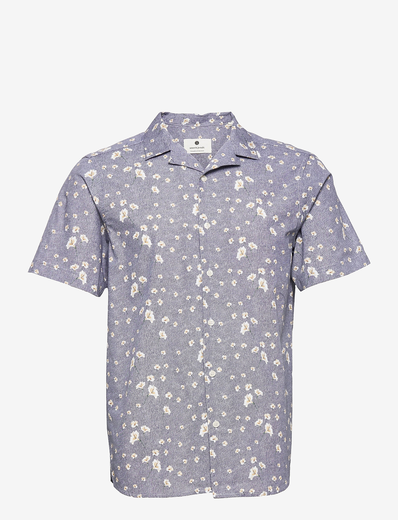Anerkjendt - AKLEO SS POPLIN AOP - geruite overhemden - pine grove - 1