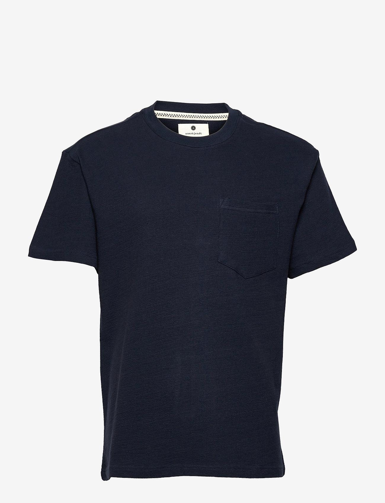 Anerkjendt - AKKIKKI STRUCTURE T SHIRT - basic t-shirts - sky captain - 0
