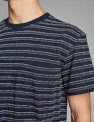 Anerkjendt - AKKIKKI CURV STRIPE - t-shirts à manches courtes - sky captain - 4