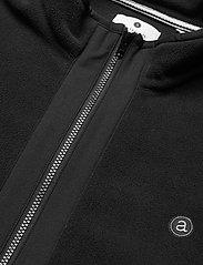 Anerkjendt - AKTOM FLEECE CARDIGAN - mid layer jackets - caviar - 2