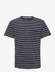 Anerkjendt - AKKIKKI CURV STRIPE - t-shirts à manches courtes - sky captain - 1