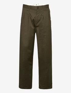 AKJAKOB COTTON PLEAT PANT - casual broeken - cypress