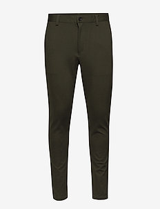 AKBODAN PANTS - suit trousers - bis. green