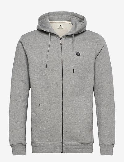 AKELLIOTT ORGANIC HOODIE ZIP - sweats à capuche - light grey mel