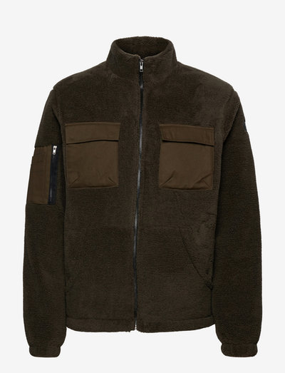 AKBO PILE JACKET - mid layer jackets - deep forrest