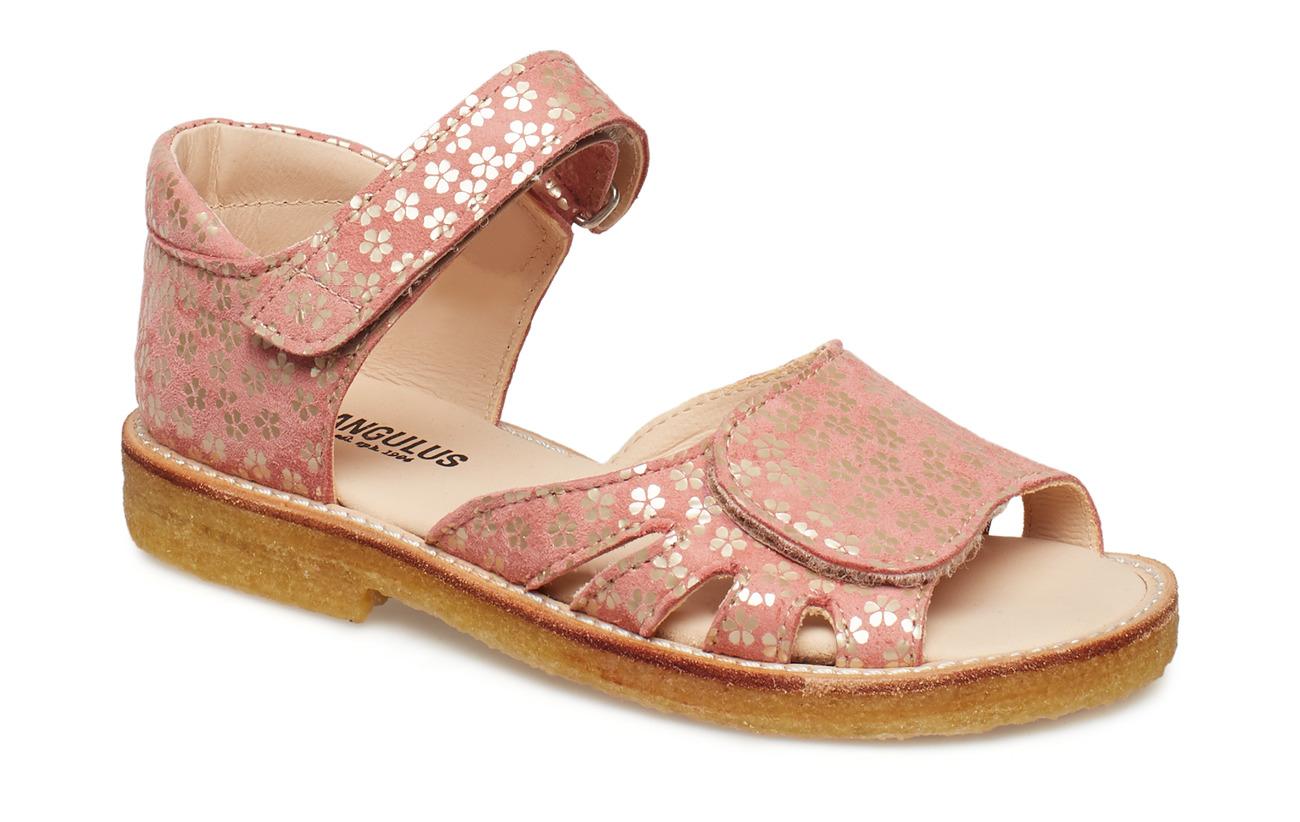 ANGULUS Sandals - flat - 2491 CORAL FLOWER