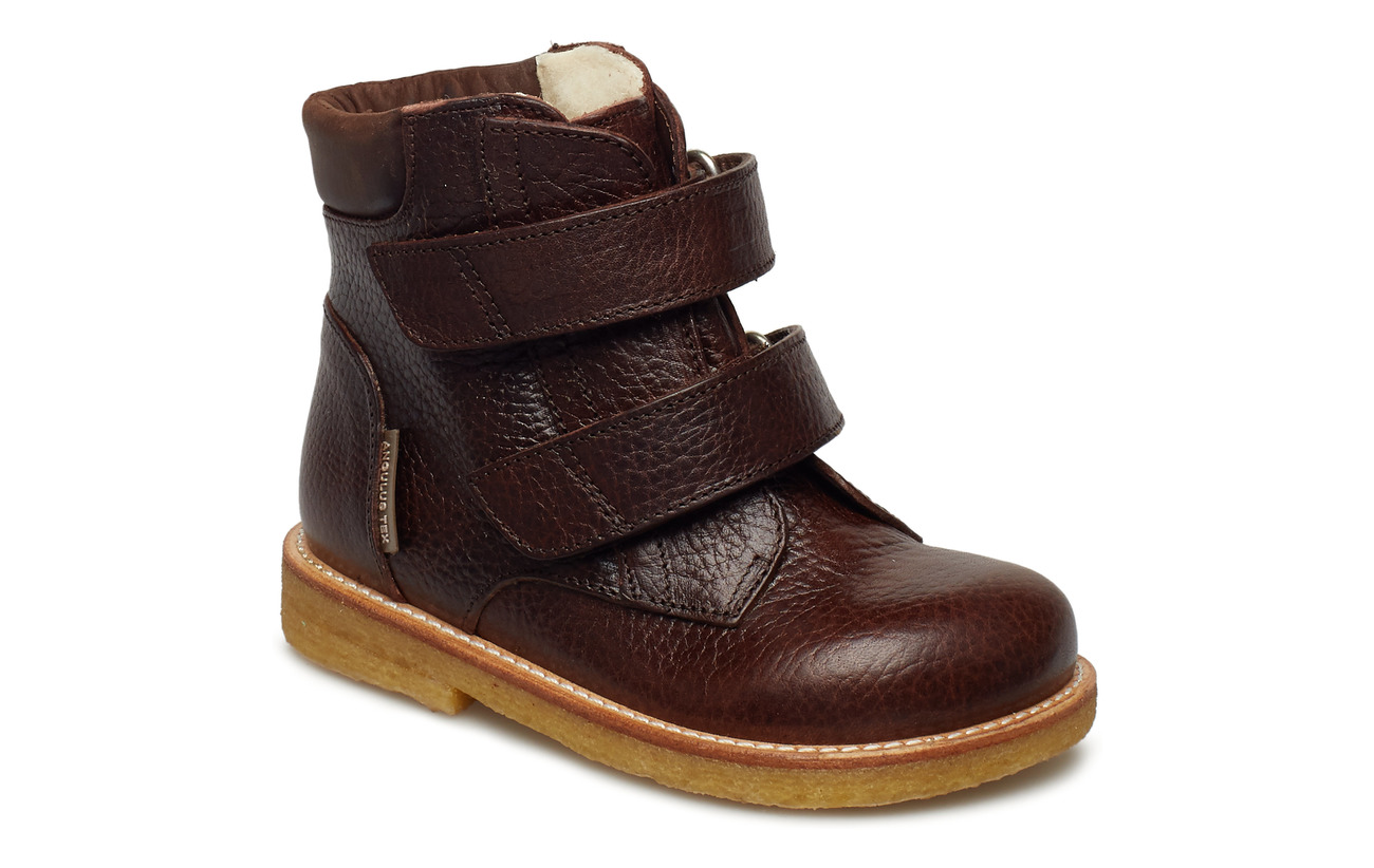 ANGULUS Boots - flat - with velcro - 2505/1660 DARK BROWN
