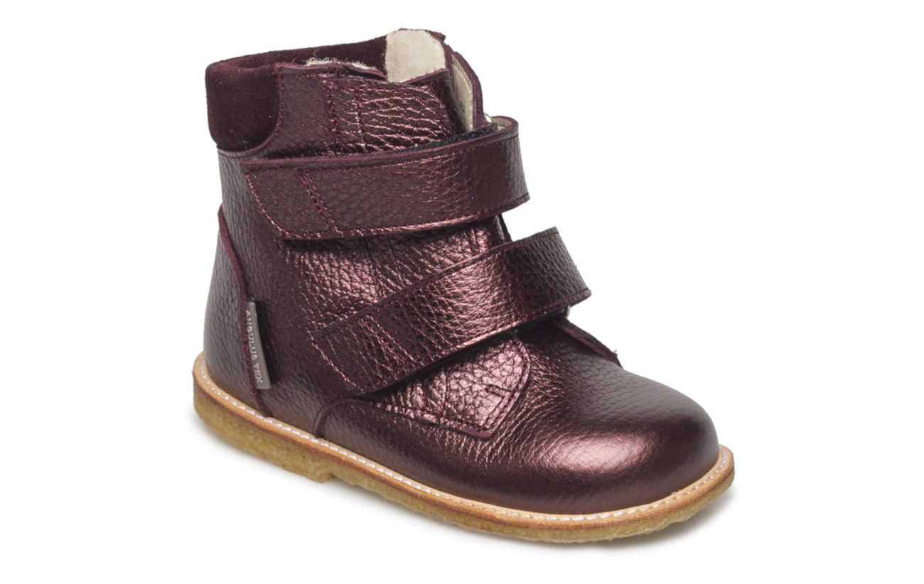 ANGULUS Boots - flat - with velcro - 1536/2195 BORDEAUX SHINE/B