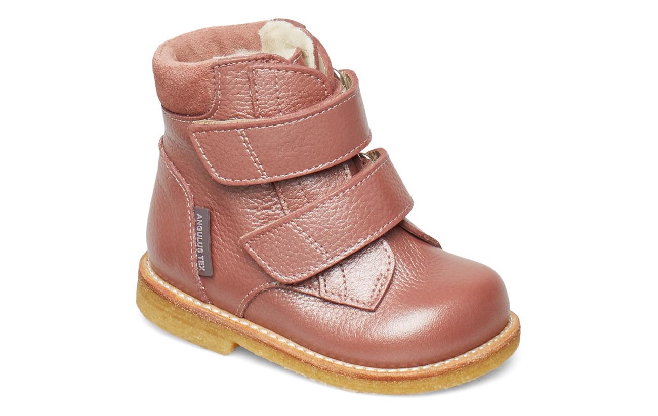 ANGULUS Boots - flat - with velcro - 2636/2194 ROSE SHINE/POWDER