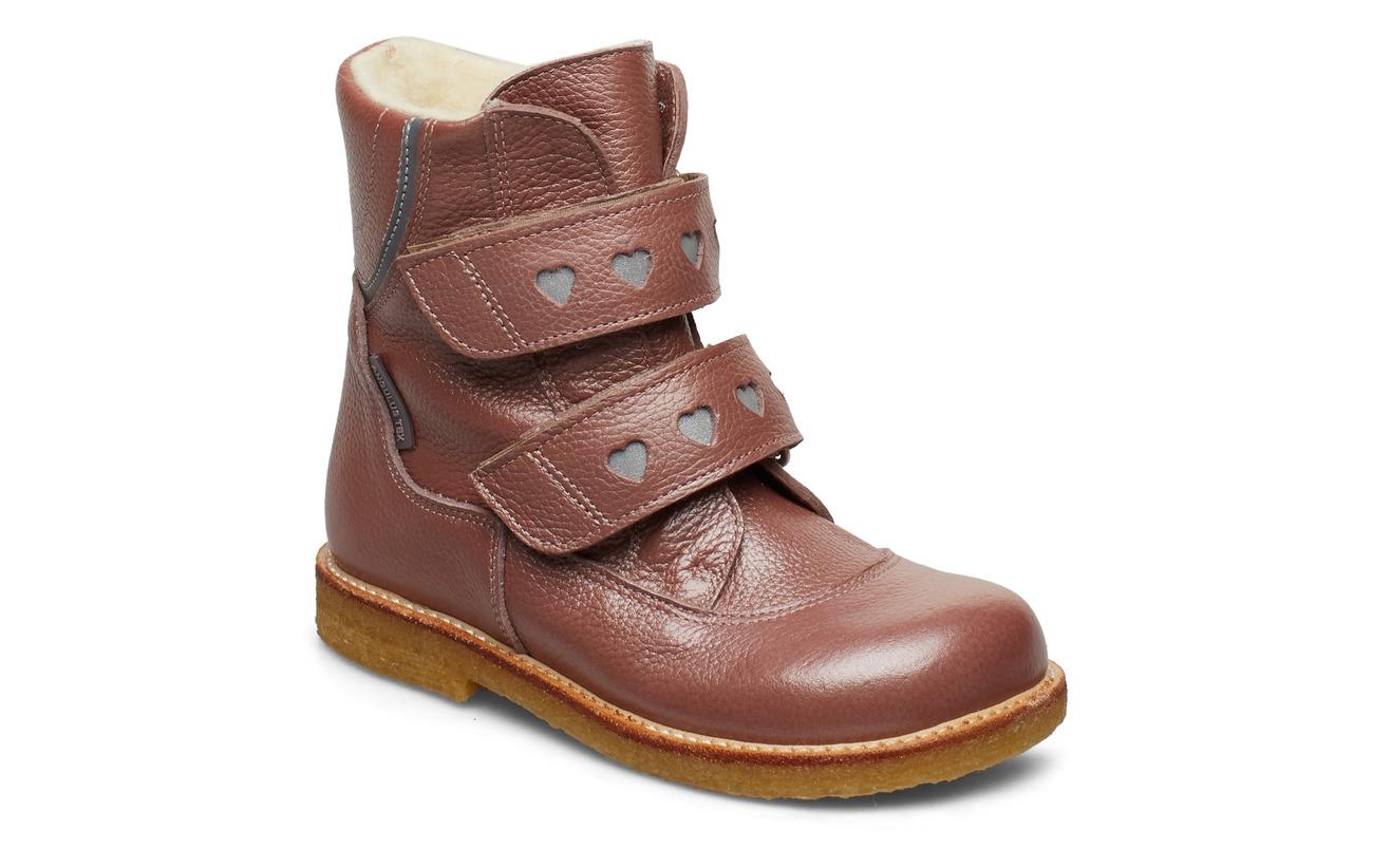 ANGULUS Boots - flat - with velcro - 2636/2012 ROSE SHINE/REFLEX
