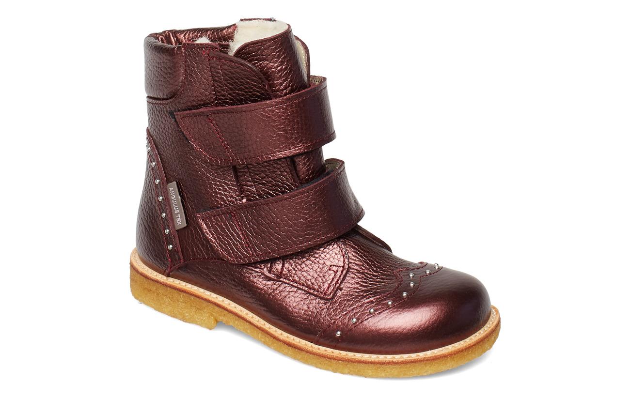 ANGULUS Boots - flat - with velcro - 1536 BORDEAUX SHINE