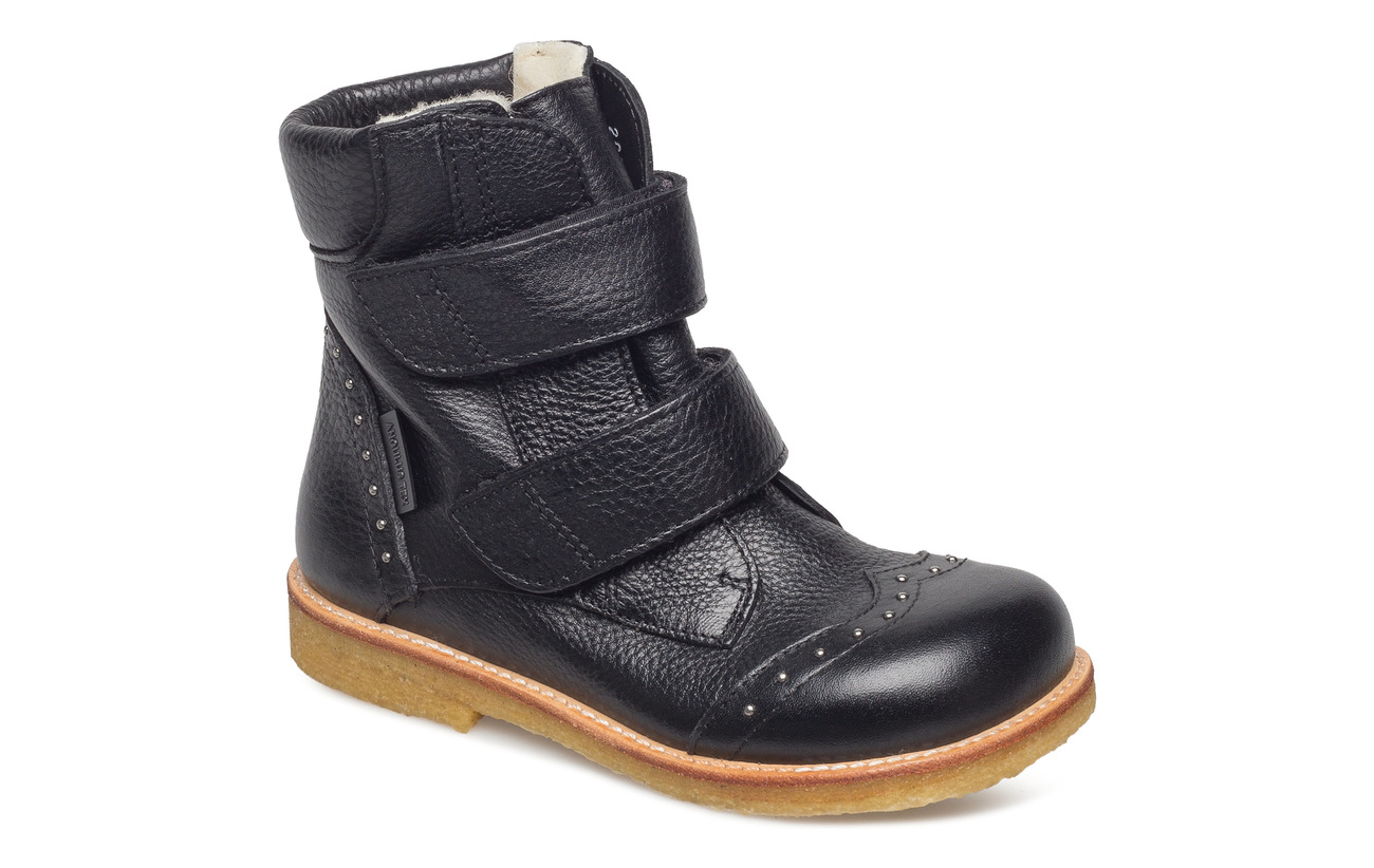ANGULUS Boots - flat - with velcro - 1933 BLACK