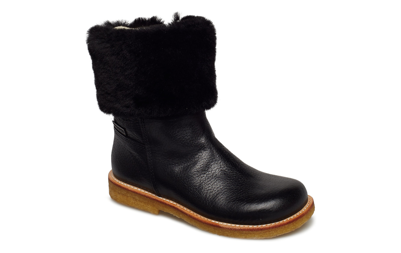 ANGULUS Boots - flat - with zipper - 2504/2014/1604 BLACK/BLACK/BLA