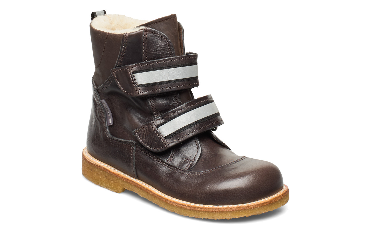 ANGULUS Boots - flat - with velcro - 2632/1660/2022 ANTHRACITE/BROW