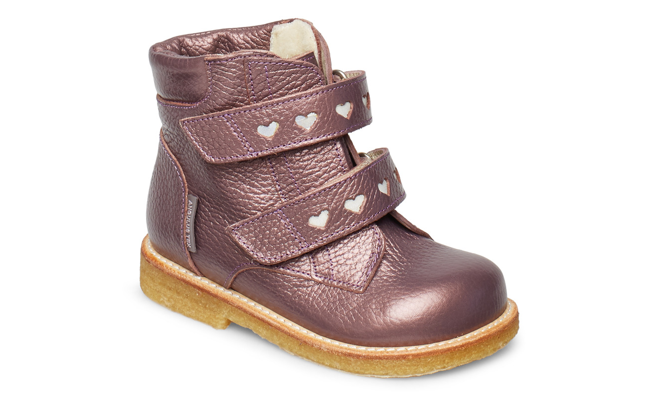 ANGULUS Boots - flat - with velcro - 1509/2012 LAVENDER SHINE/REFLE