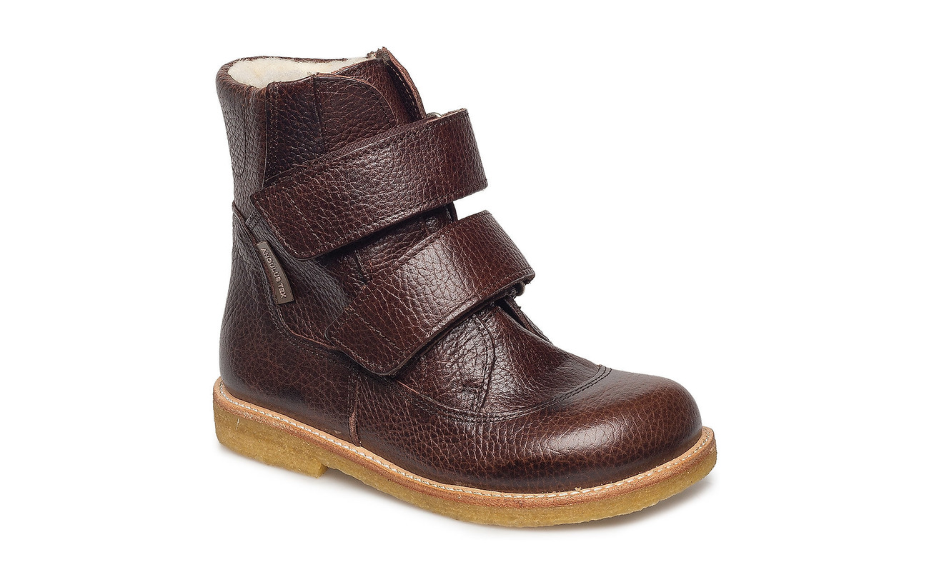 ANGULUS Boots - flat - with velcro - 2505 DARK BROWN