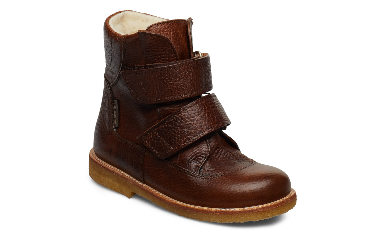 ANGULUS Boots - flat - with velcro - 2509 COGNAC