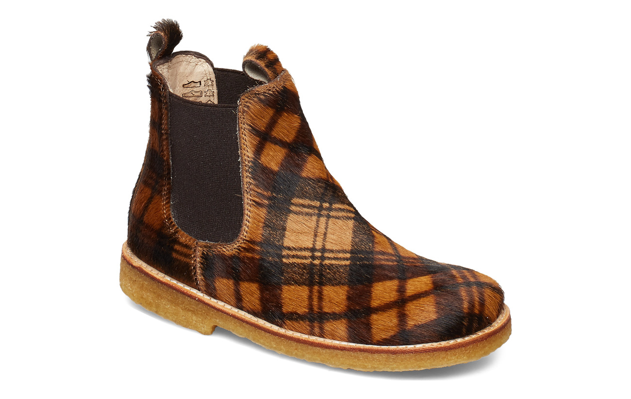 ANGULUS Chelsea boot - 1105/002 CHECKED PONY/BROWN