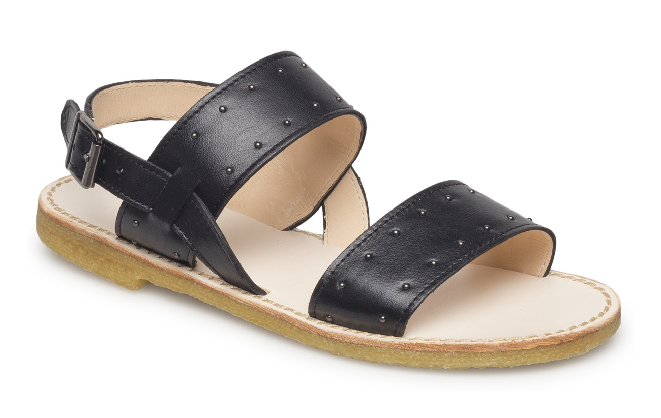 ANGULUS Sandals - flat - open toe - op - 1604 BLACK
