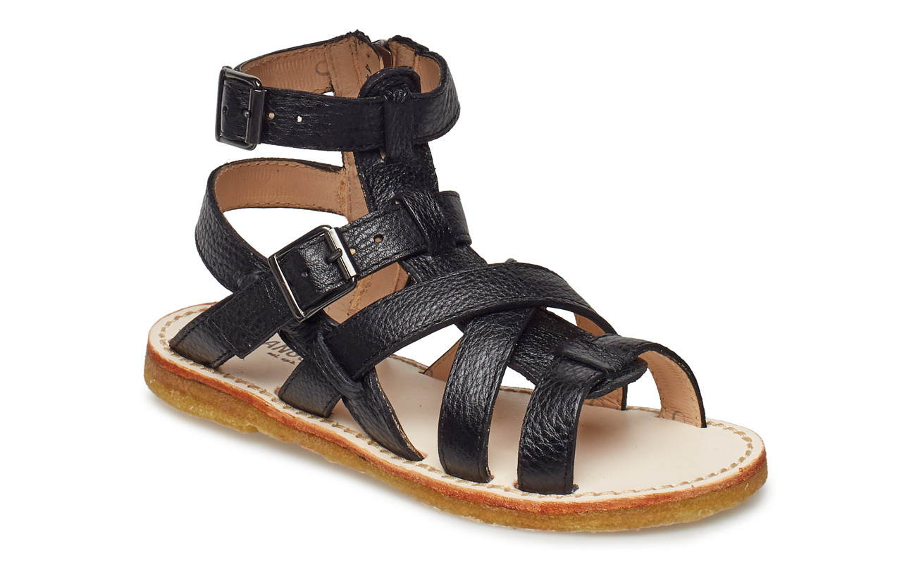 ANGULUS Sandal w. zipper - 1933 BLACK