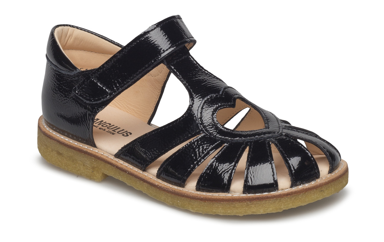 ANGULUS Sandal with heart detail - 1310 BLACK
