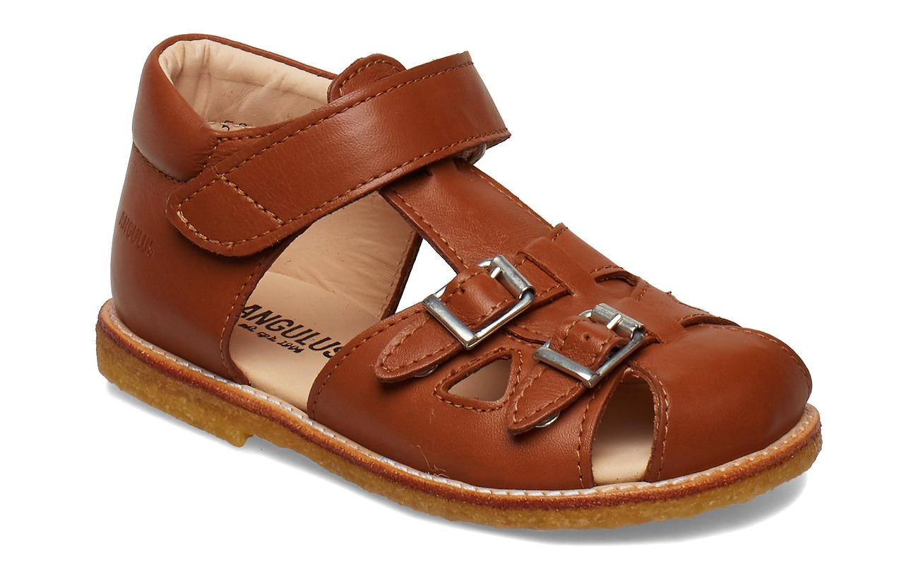 ANGULUS Sandals - flat - 1431 COGNAC