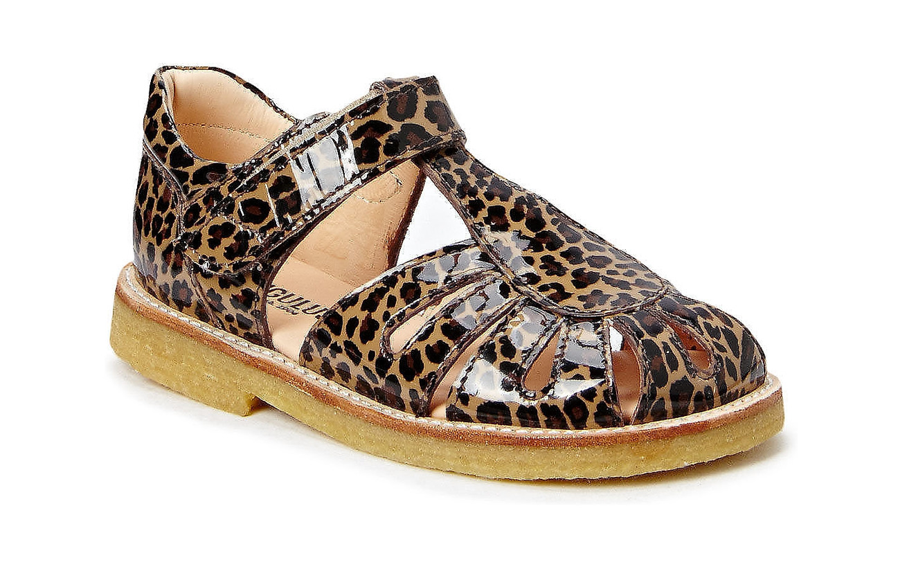 ANGULUS Sandals - flat - closed toe -  - 2308 BROWN LEOPARD
