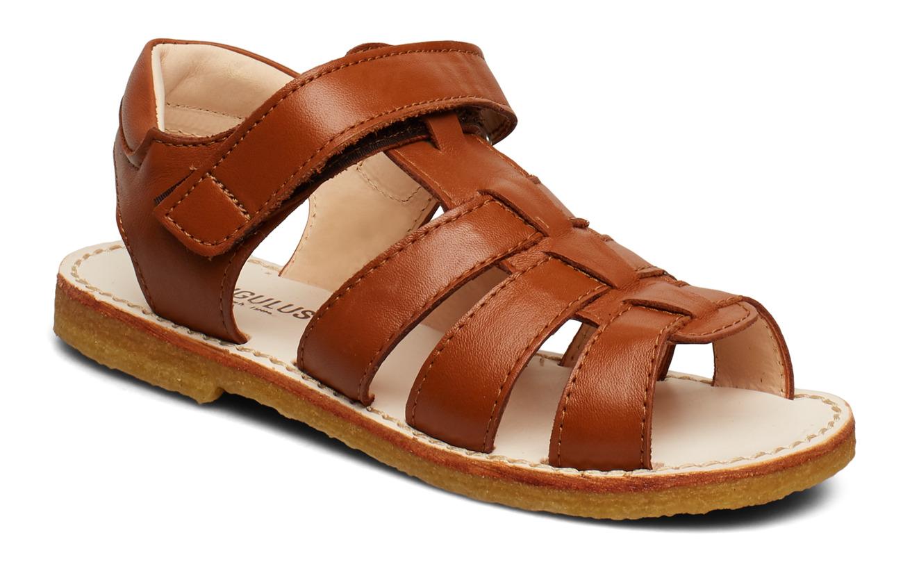 ANGULUS Sandals - flat - open toe - op - 1431 COGNAC