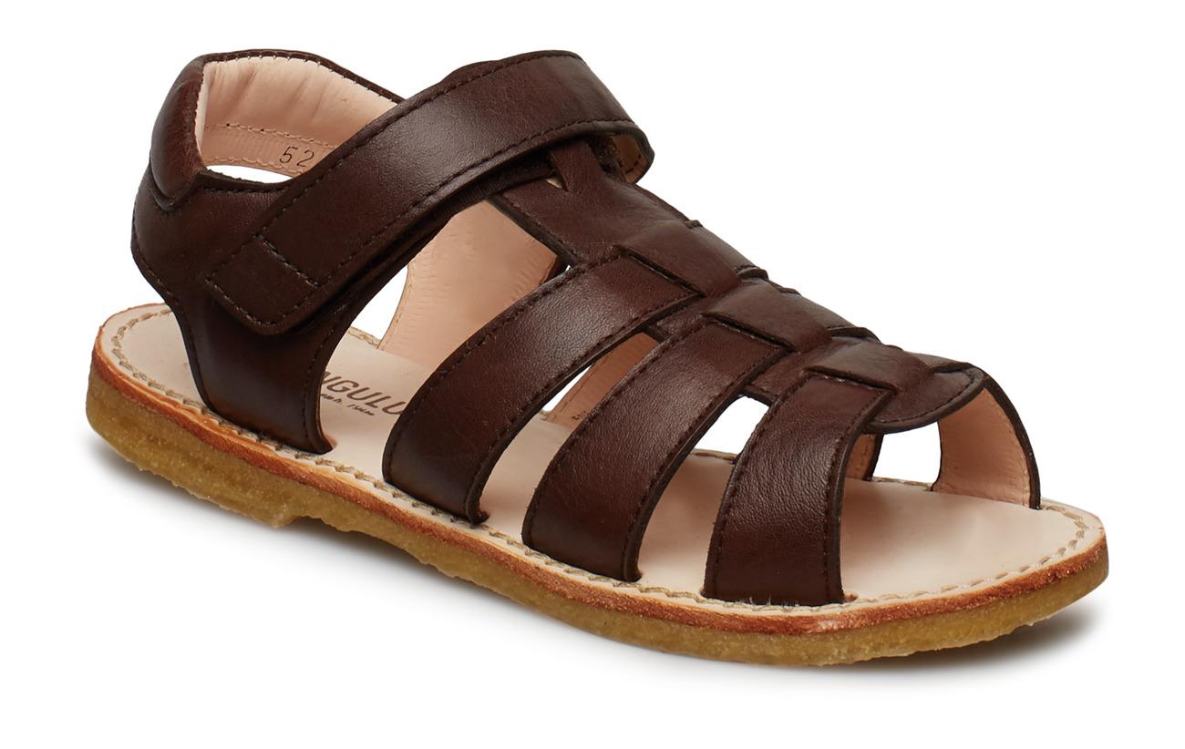 ANGULUS Sandals - flat - open toe - op - 1562 ANGULUS BROWN