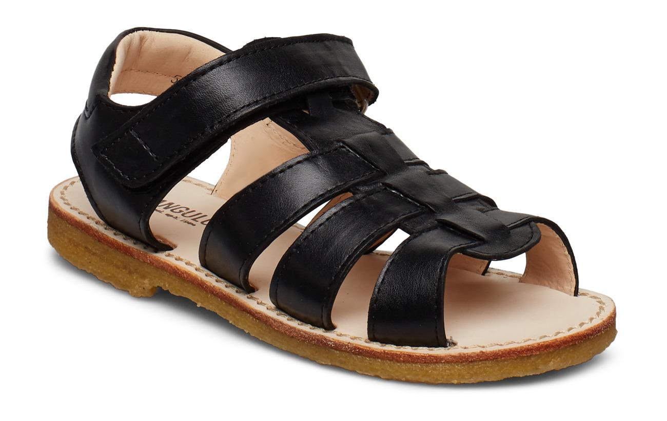 ANGULUS Sandals - flat - open toe - op - 1604 BLACK