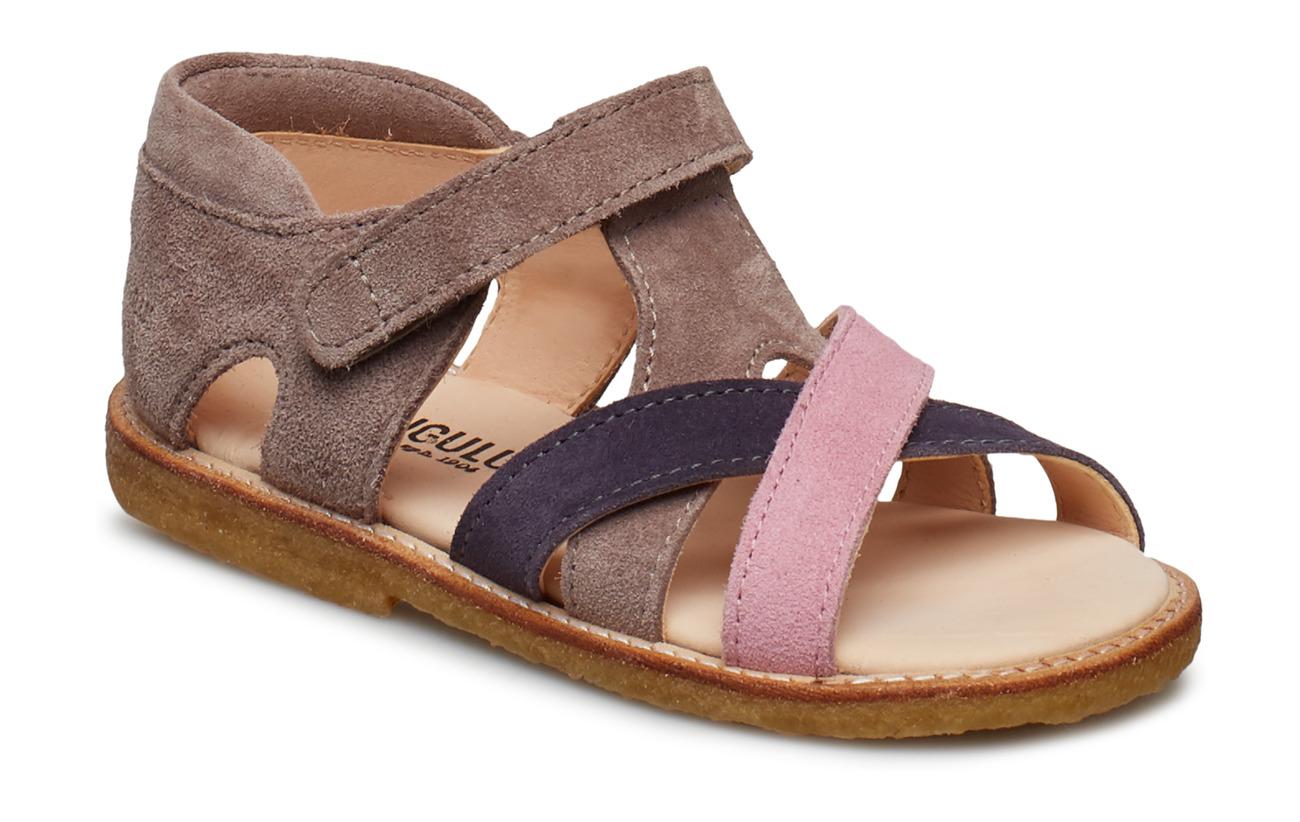 ANGULUS Sandals - flat - open toe - clo - 2204/2203/2202 ROSA/LILLA/LAV.