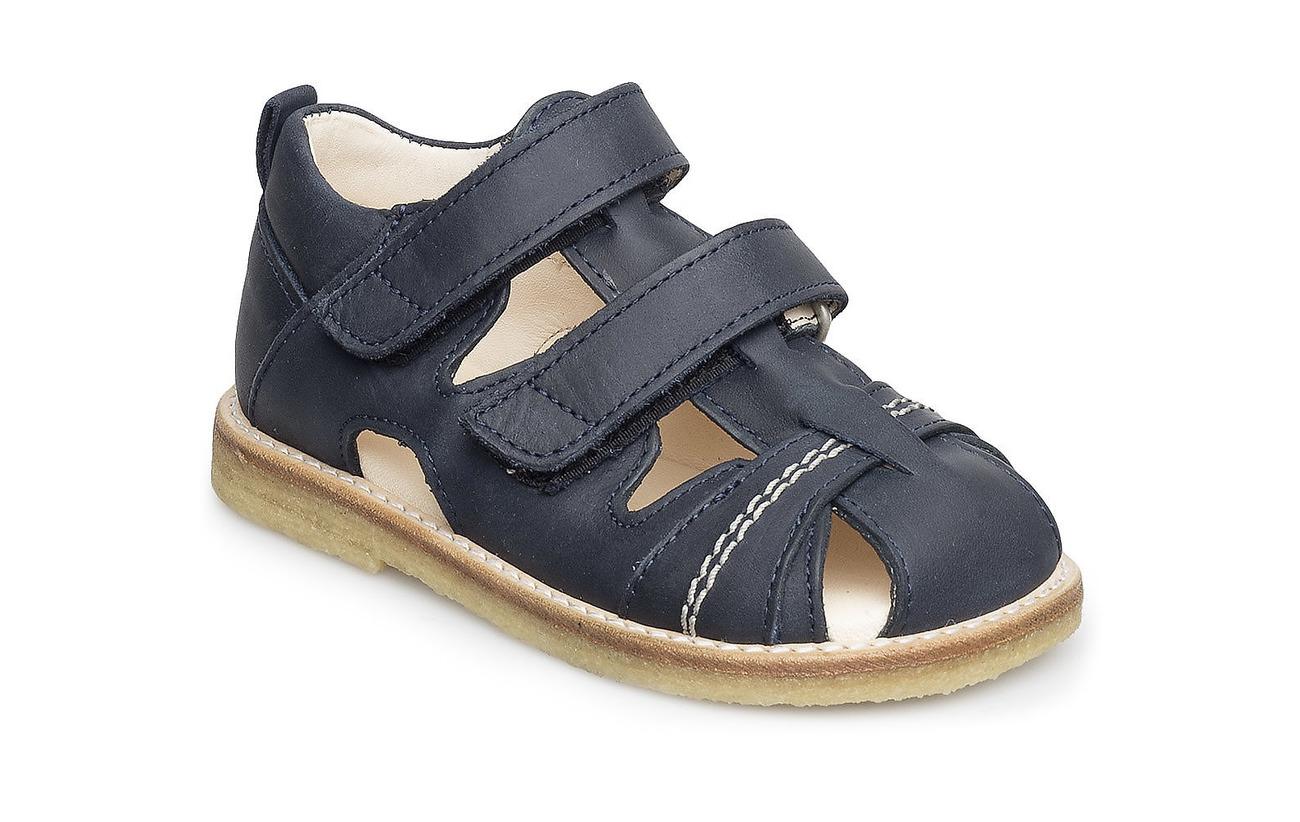 ANGULUS Sandal with 2 velcro closures - 1587 DARK BLUE