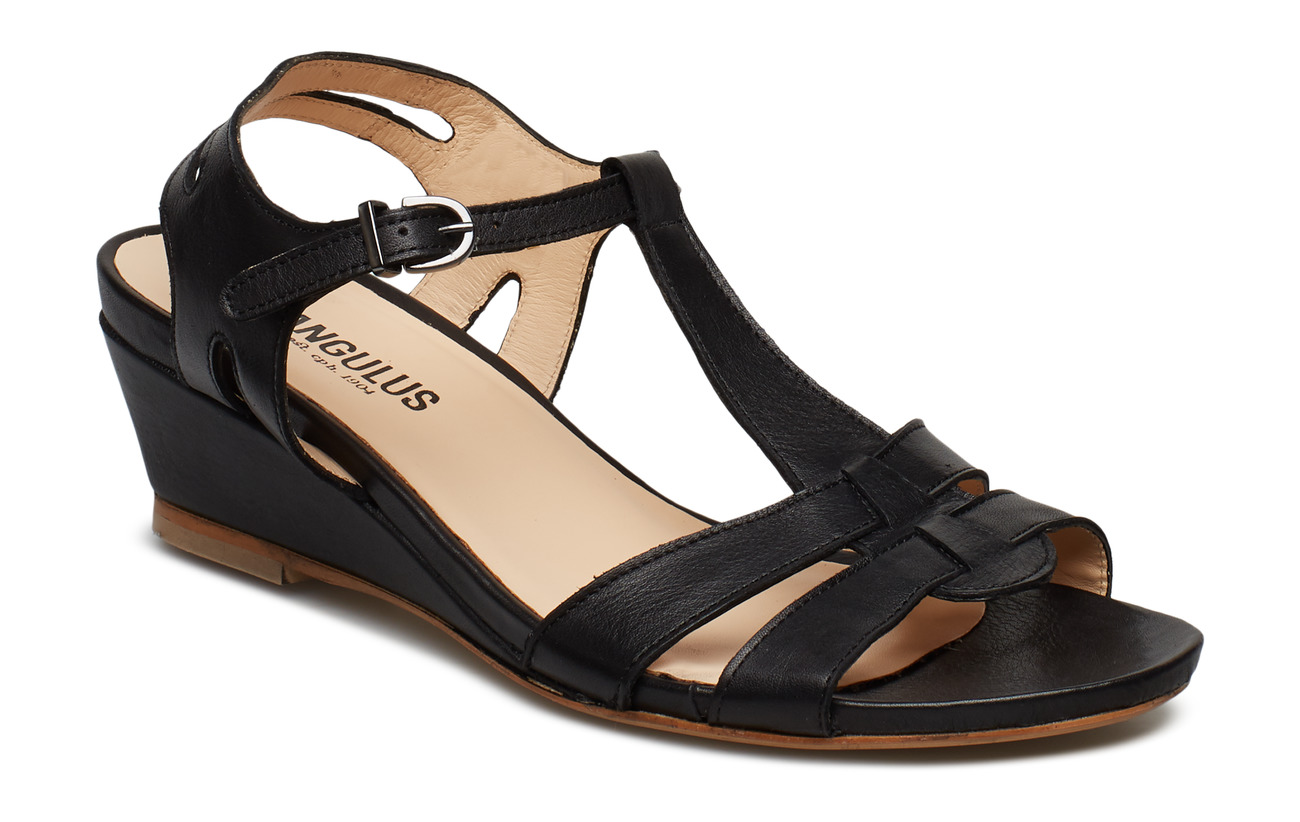 ANGULUS Sandal with leather sole - 1604 BLACK