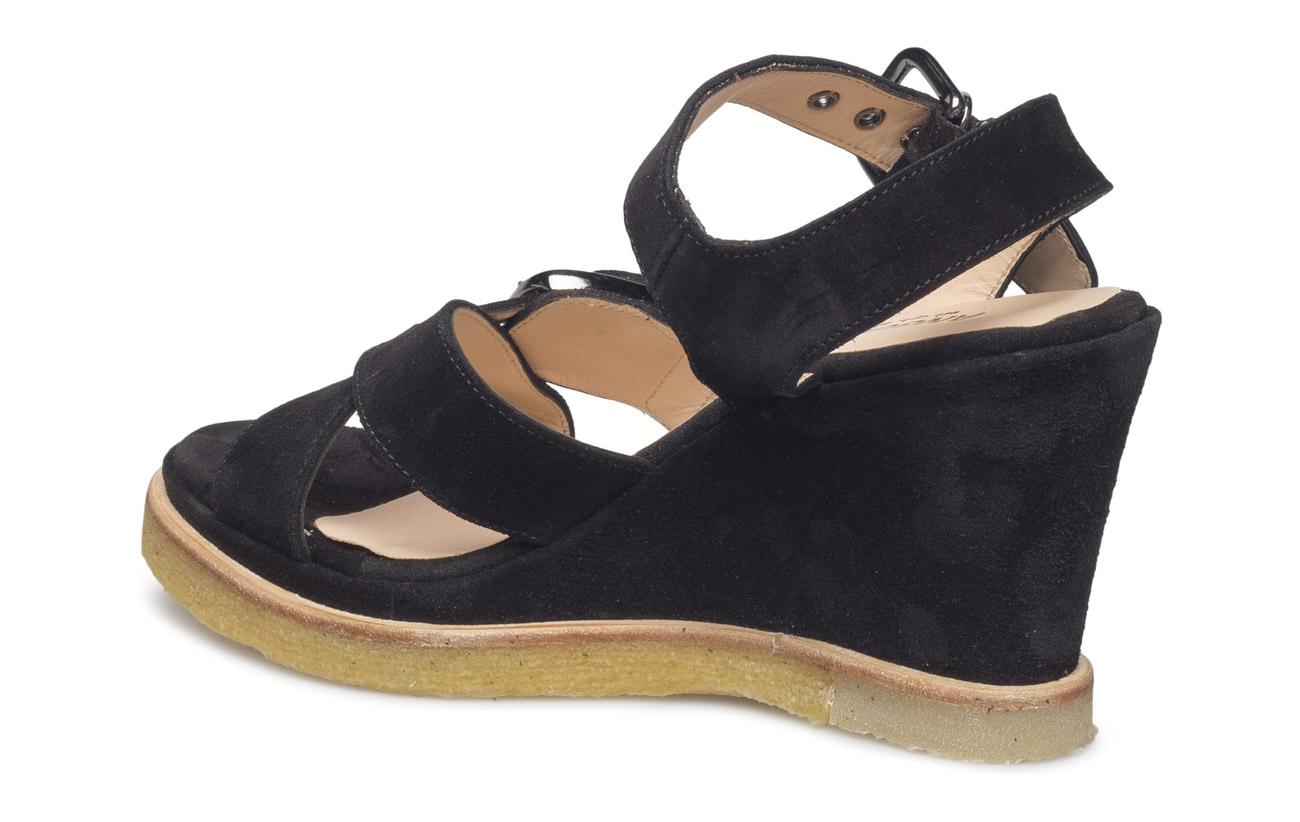 1 Beja Intérieure Doublure Semelle Black N Angulus Extérieure 100 Joca Cuir Supérieure Empeigne Wedge Lª Dj 1163 Daim Sandals qqx0fOT
