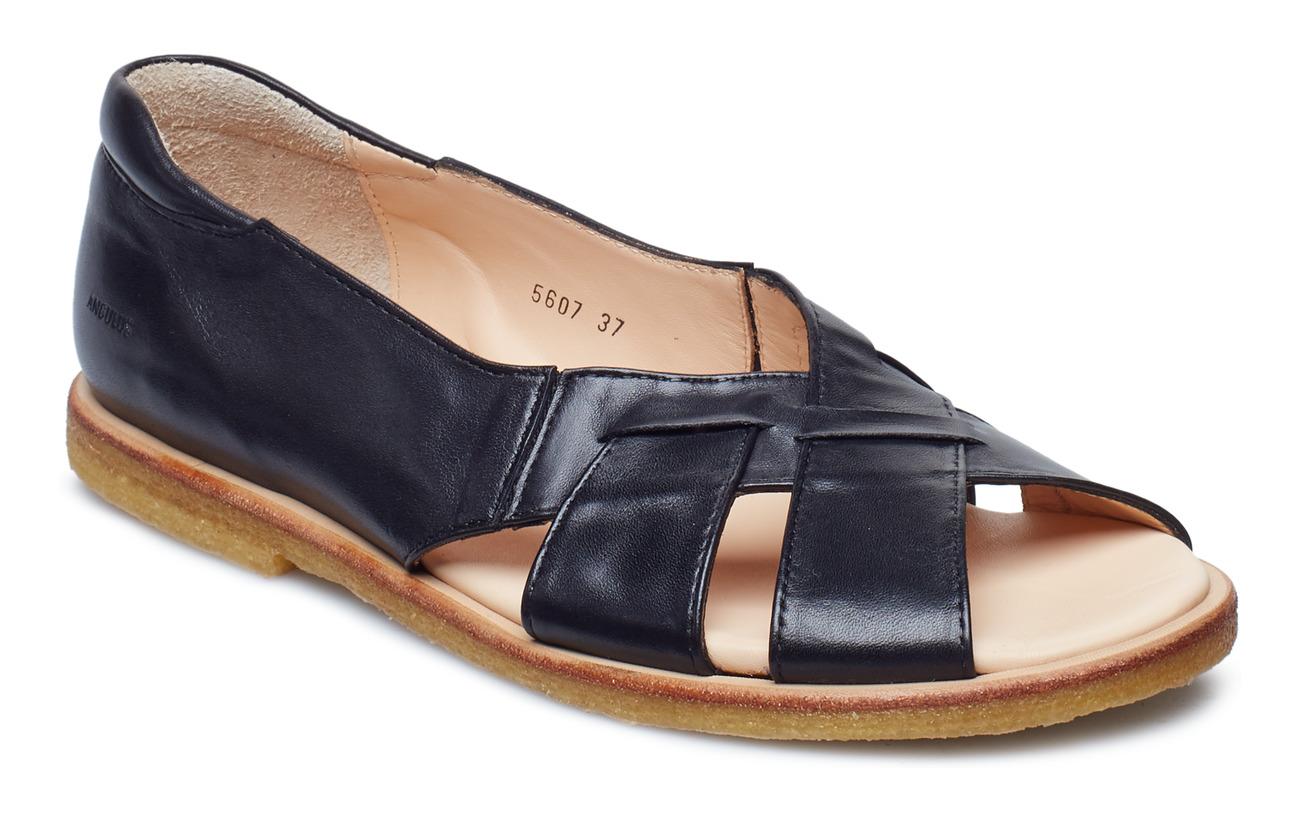 ANGULUS Sandals - flat - open toe - op - 1604/001 BLACK/BLACK