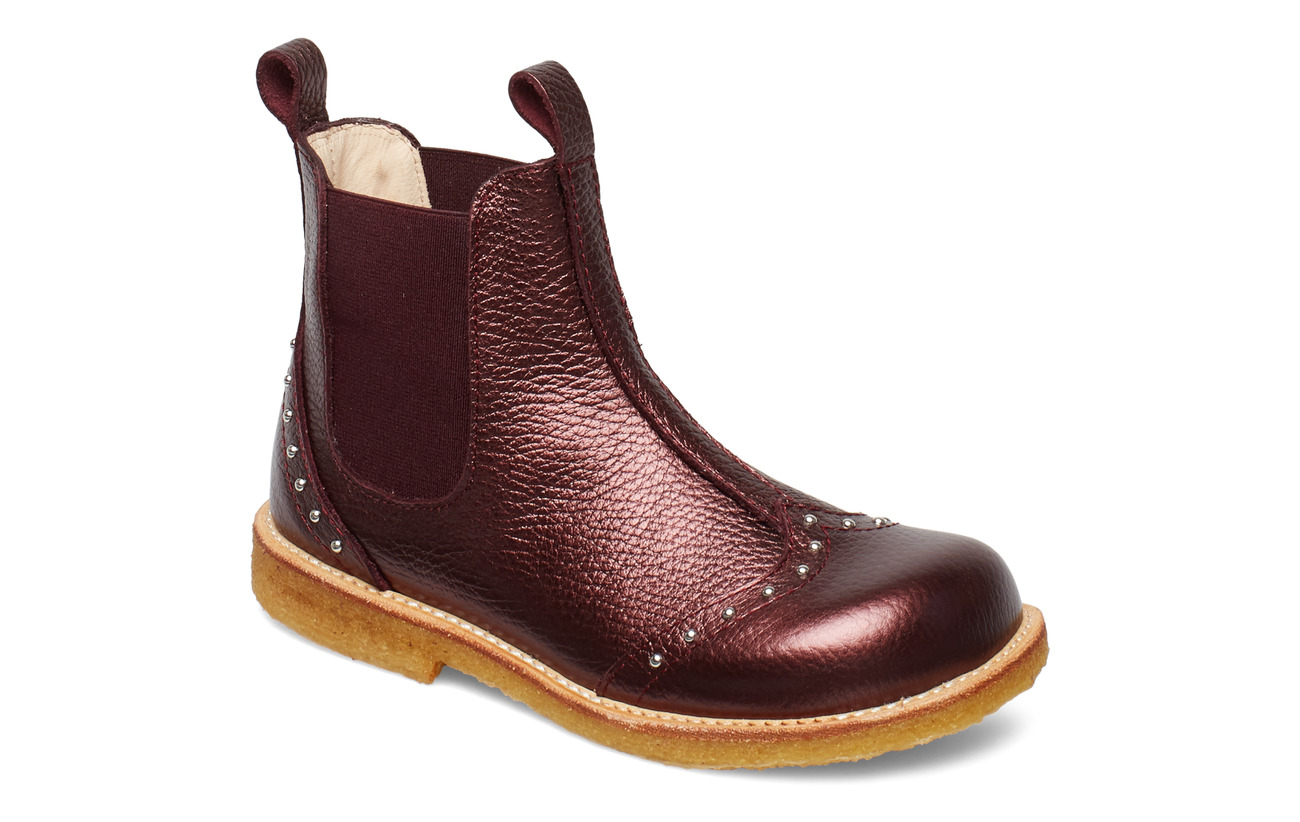 ANGULUS Booties - flat - with elastic - 1536/031 BORDEAUX SHINE/ BORDE