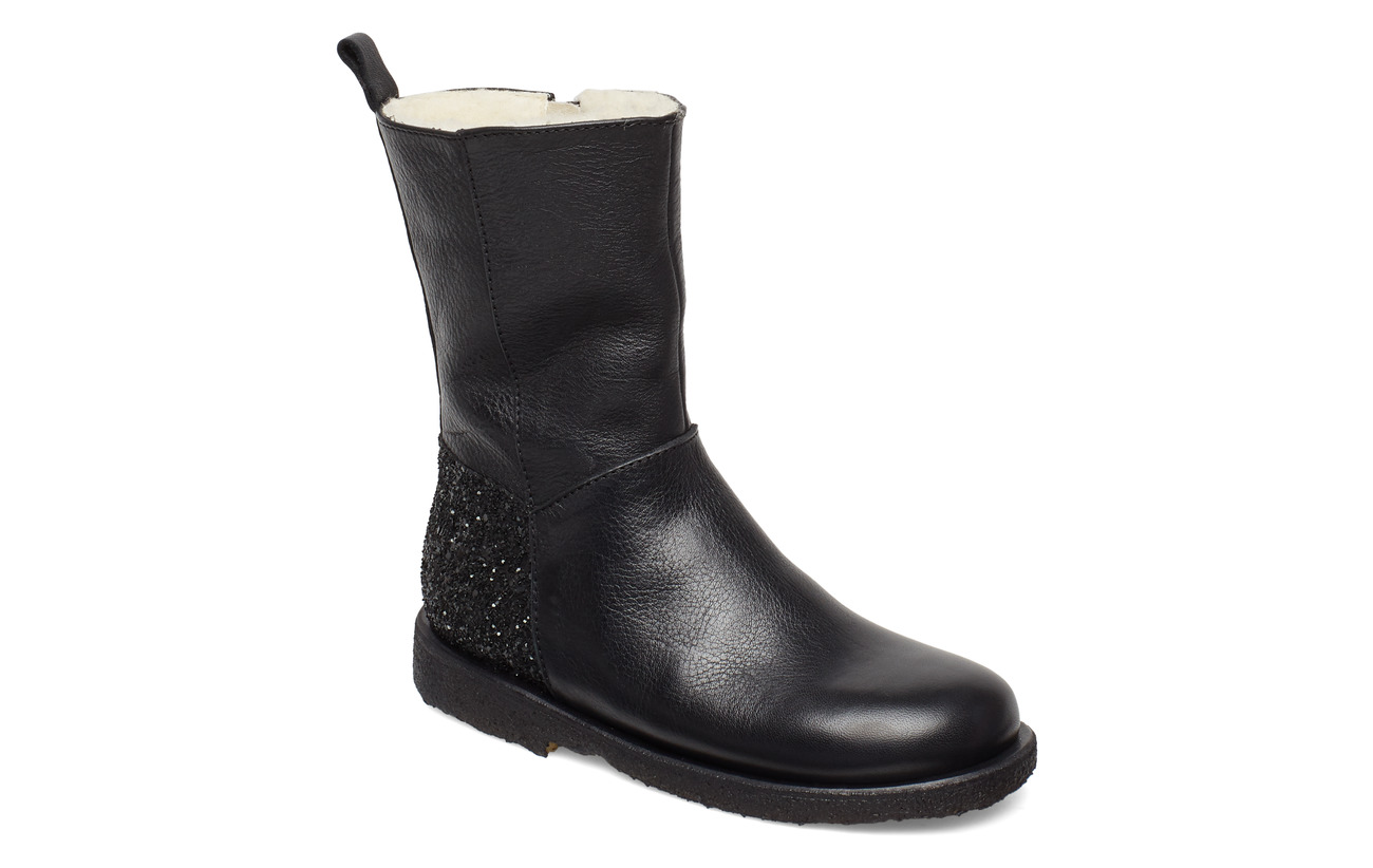 Boots flat with zipper