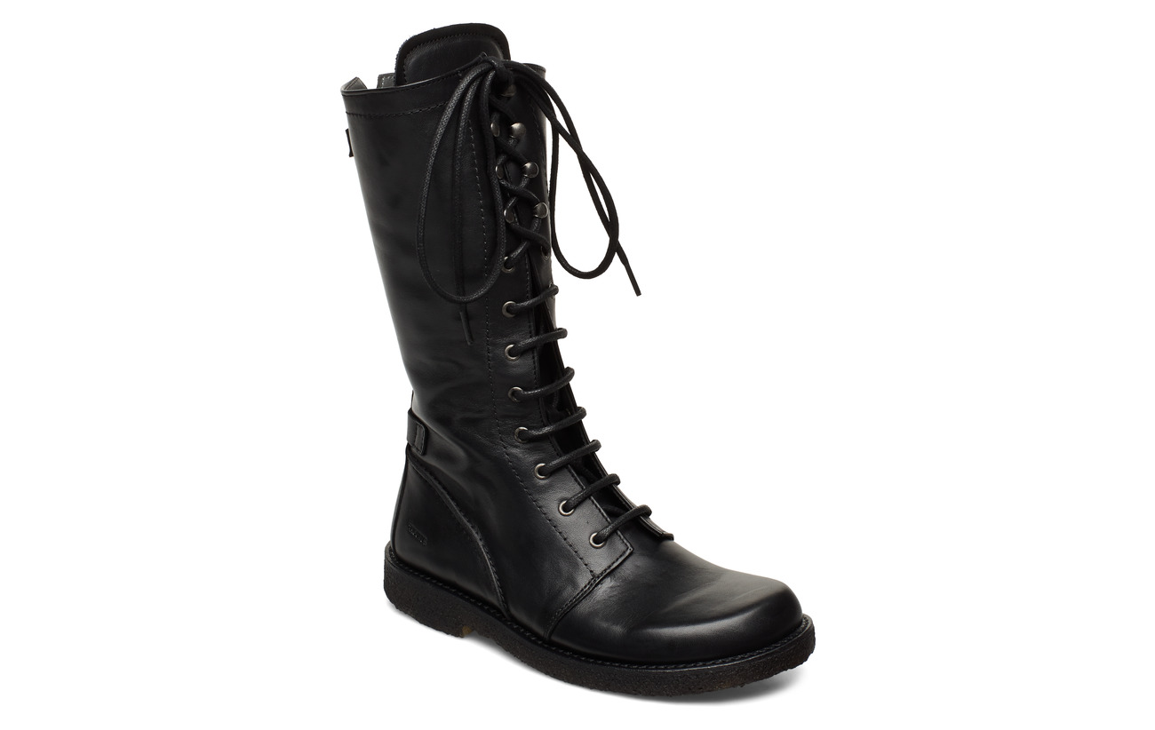ANGULUS Long boot with laces. - 1604 BLACK