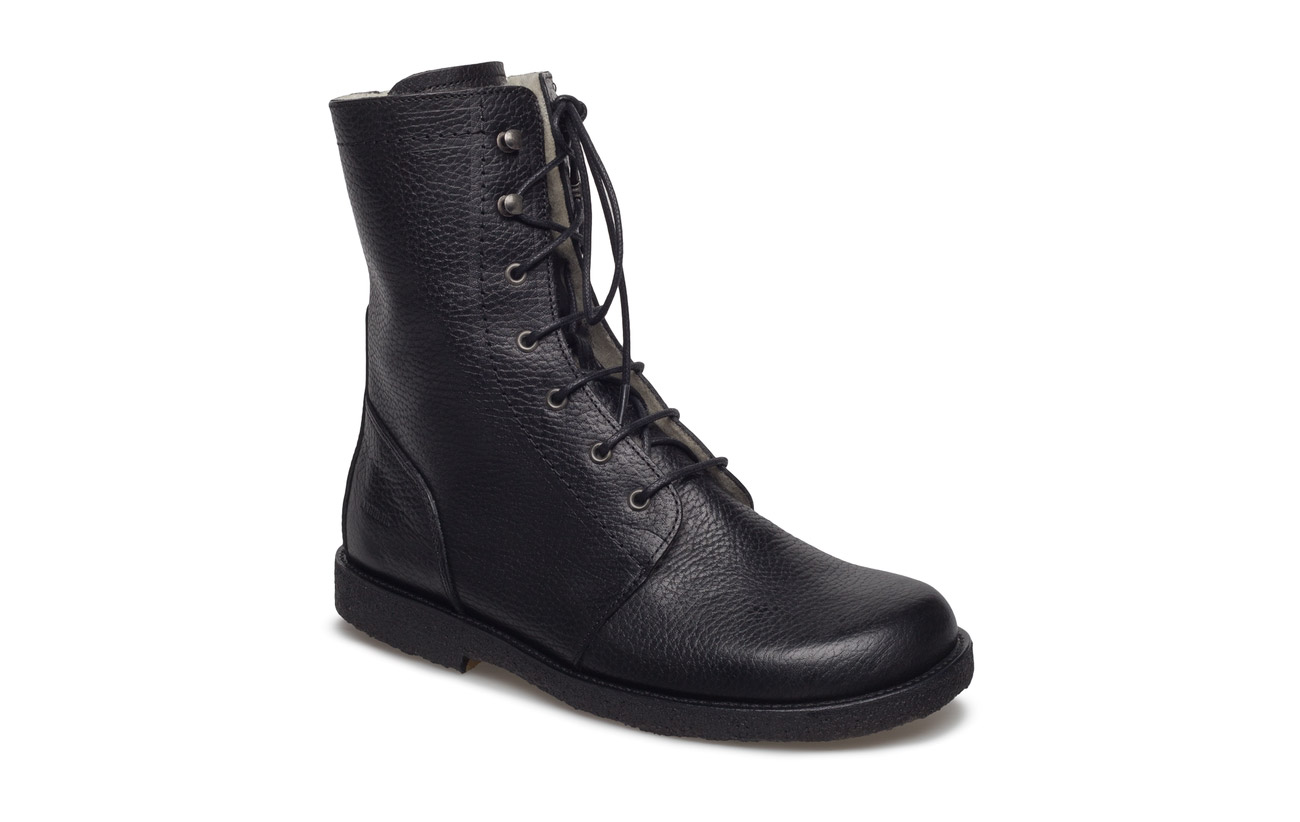 ANGULUS Boots - flat - with laces - 2504 BLACK