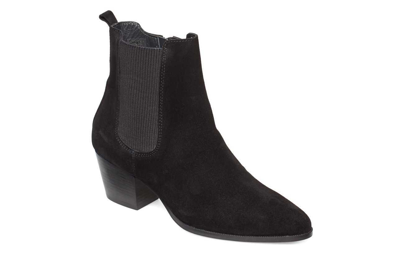 ANGULUS Booties - Block heel - with elas - 1163/019 BLACK/BLACK