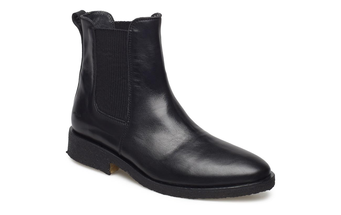 ANGULUS Booties - flat - with elastic - 1604/019 BLACK/BLACK