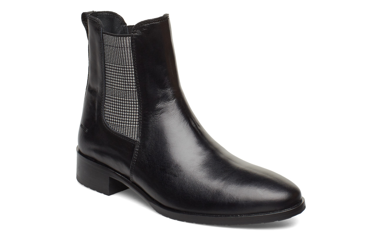 ANGULUS Booties - flat - with elastic - 1835/044 BLACK/CHECKED